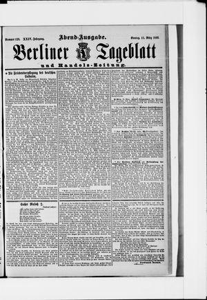 Berliner Tageblatt und Handels-Zeitung on Mar 11, 1895