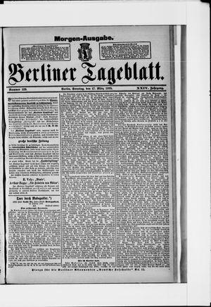 Berliner Tageblatt und Handels-Zeitung on Mar 17, 1895
