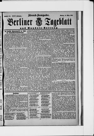 Berliner Tageblatt und Handels-Zeitung vom 18.03.1895
