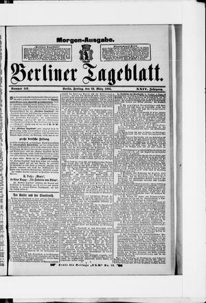 Berliner Tageblatt und Handels-Zeitung on Mar 22, 1895