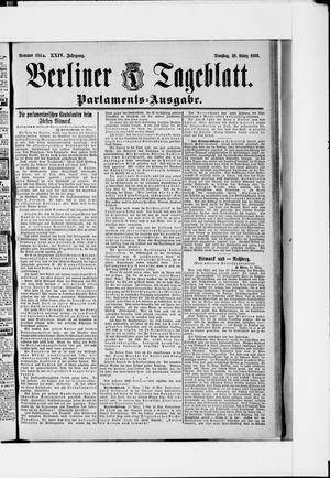Berliner Tageblatt und Handels-Zeitung vom 26.03.1895