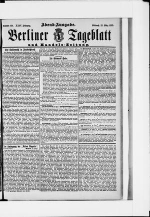 Berliner Tageblatt und Handels-Zeitung vom 27.03.1895