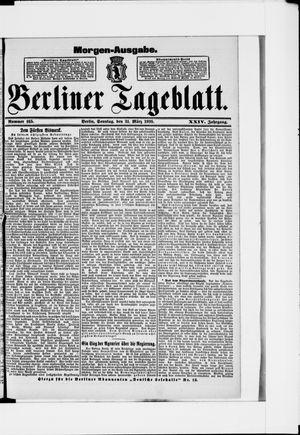 Berliner Tageblatt und Handels-Zeitung vom 31.03.1895