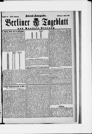 Berliner Tageblatt und Handels-Zeitung vom 03.04.1895