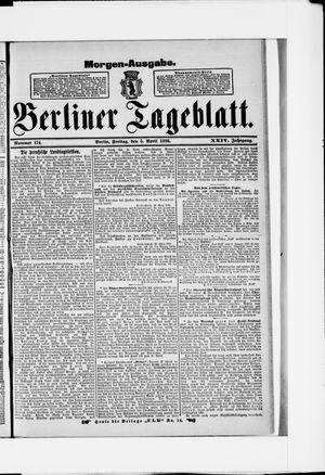 Berliner Tageblatt und Handels-Zeitung vom 05.04.1895