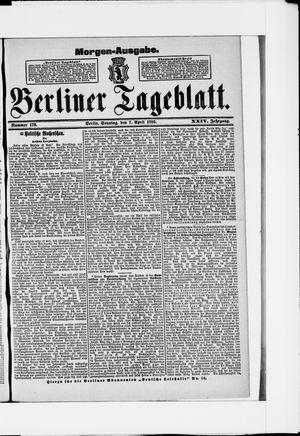 Berliner Tageblatt und Handels-Zeitung vom 07.04.1895