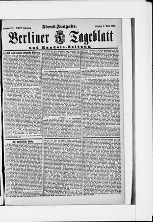Berliner Tageblatt und Handels-Zeitung vom 09.04.1895