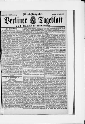 Berliner Tageblatt und Handels-Zeitung vom 10.04.1895