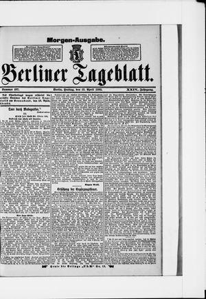 Berliner Tageblatt und Handels-Zeitung vom 12.04.1895