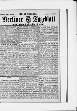 Berliner Tageblatt und Handels-Zeitung vom 13.04.1895