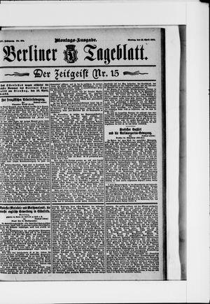 Berliner Tageblatt und Handels-Zeitung vom 15.04.1895