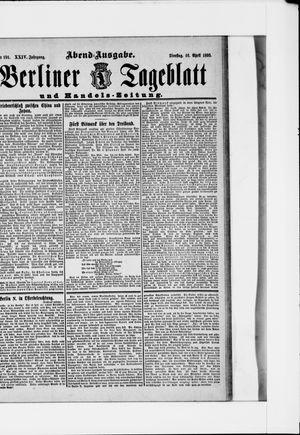 Berliner Tageblatt und Handels-Zeitung vom 16.04.1895