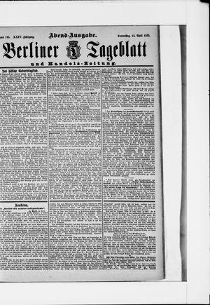 Berliner Tageblatt und Handels-Zeitung vom 18.04.1895