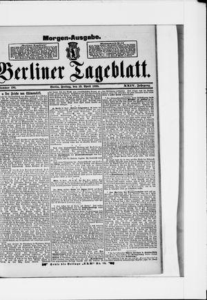 Berliner Tageblatt und Handels-Zeitung vom 19.04.1895