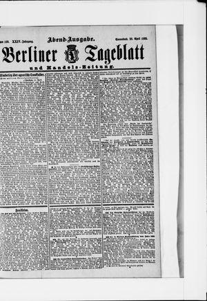 Berliner Tageblatt und Handels-Zeitung vom 20.04.1895