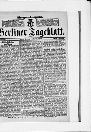 Berliner Tageblatt und Handels-Zeitung vom 21.04.1895