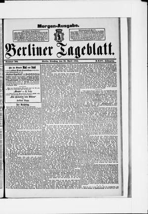 Berliner Tageblatt und Handels-Zeitung vom 23.04.1895