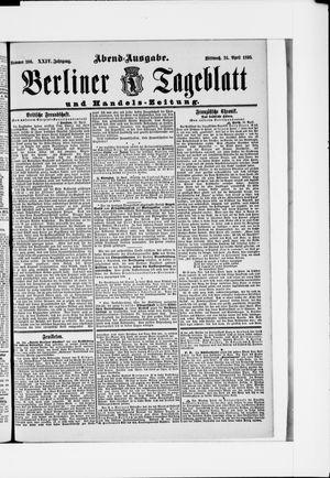 Berliner Tageblatt und Handels-Zeitung vom 24.04.1895