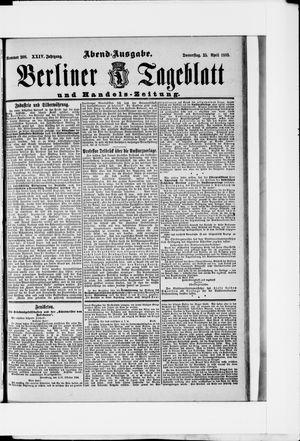 Berliner Tageblatt und Handels-Zeitung vom 25.04.1895