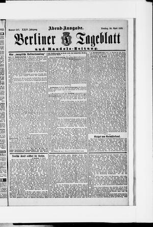 Berliner Tageblatt und Handels-Zeitung vom 30.04.1895