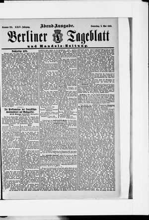 Berliner Tageblatt und Handels-Zeitung vom 02.05.1895