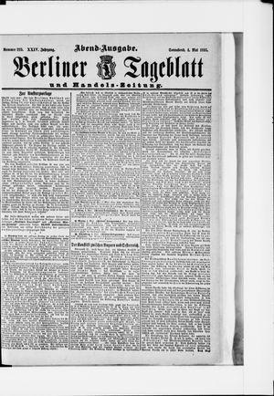 Berliner Tageblatt und Handels-Zeitung vom 04.05.1895