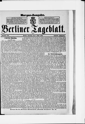 Berliner Tageblatt und Handels-Zeitung vom 05.05.1895