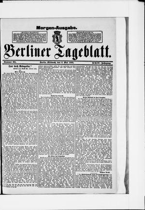 Berliner Tageblatt und Handels-Zeitung vom 08.05.1895