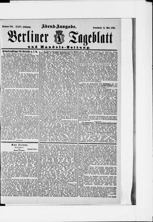 Berliner Tageblatt und Handels-Zeitung vom 11.05.1895