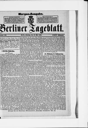 Berliner Tageblatt und Handels-Zeitung vom 12.05.1895