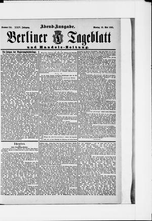 Berliner Tageblatt und Handels-Zeitung vom 13.05.1895