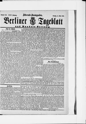 Berliner Tageblatt und Handels-Zeitung vom 14.05.1895