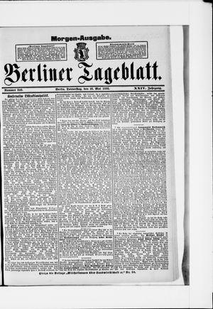 Berliner Tageblatt und Handels-Zeitung vom 16.05.1895