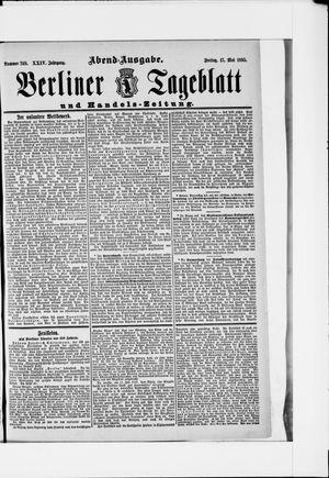 Berliner Tageblatt und Handels-Zeitung vom 17.05.1895