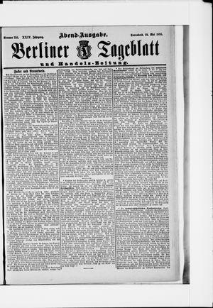 Berliner Tageblatt und Handels-Zeitung vom 18.05.1895