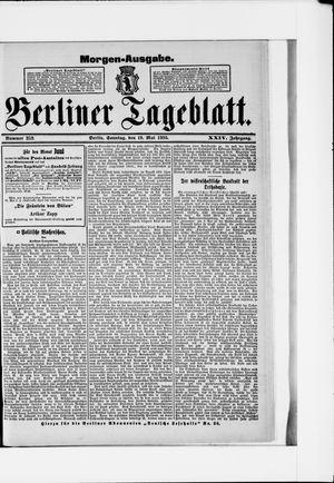 Berliner Tageblatt und Handels-Zeitung vom 19.05.1895