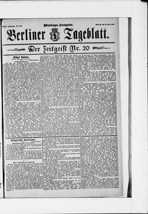 Berliner Tageblatt und Handels-Zeitung vom 20.05.1895