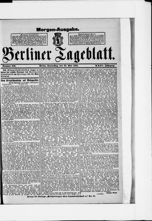 Berliner Tageblatt und Handels-Zeitung vom 23.05.1895