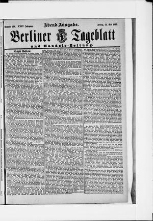 Berliner Tageblatt und Handels-Zeitung vom 24.05.1895