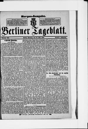 Berliner Tageblatt und Handels-Zeitung vom 26.05.1895