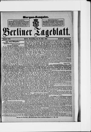 Berliner Tageblatt und Handels-Zeitung vom 30.05.1895