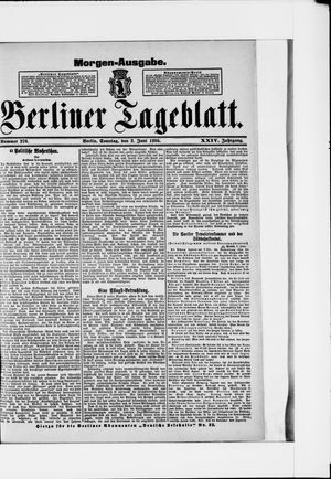 Berliner Tageblatt und Handels-Zeitung vom 02.06.1895