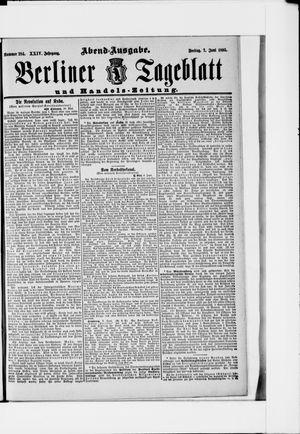 Berliner Tageblatt und Handels-Zeitung vom 07.06.1895