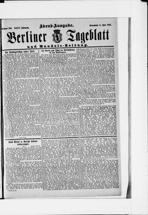 Berliner Tageblatt und Handels-Zeitung vom 08.06.1895