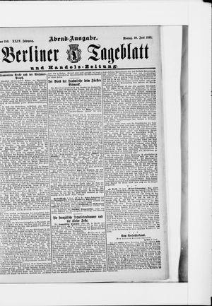 Berliner Tageblatt und Handels-Zeitung vom 10.06.1895