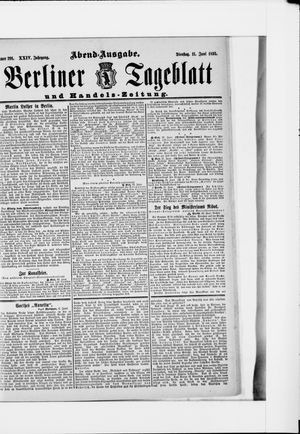 Berliner Tageblatt und Handels-Zeitung vom 11.06.1895