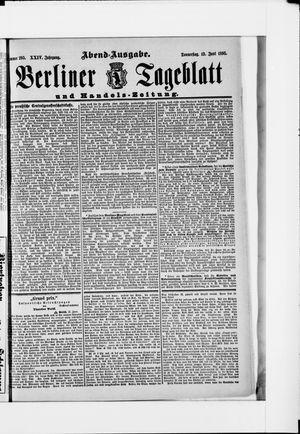 Berliner Tageblatt und Handels-Zeitung vom 13.06.1895