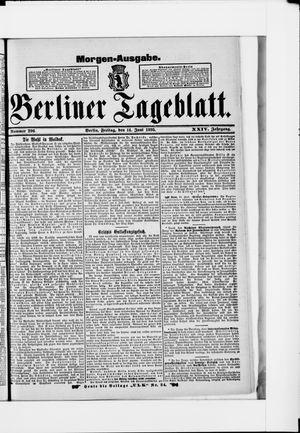 Berliner Tageblatt und Handels-Zeitung vom 14.06.1895