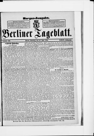 Berliner Tageblatt und Handels-Zeitung vom 16.06.1895