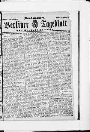Berliner Tageblatt und Handels-Zeitung on Jun 17, 1895
